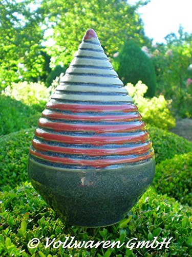 rosenkugel-zapfen-geringelt-keramik-h17-handgearbeitet-anthrazit-kunstkeramik-frostfest