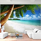 Fototapete Strand Meer Palmen Vlies Wand Tapete Wohnzimmer Schlafzimmer Büro Flur Dekoration Wandbilder XXL Moderne Wanddeko - 100% MADE IN GERMANY - Landschaft Natur Blau Runa Tapeten 9004010b