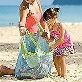 VI. yo gran playa de arena Agua de distancia juguetes bolsa de malla perfecto para guardar los juguetes, bolas, conchas en la playa Funda Necessaries herramienta o otros artículos de playa playa Juguete bolsa de almacenamiento verde verde