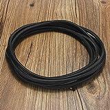 Cable Trenzado,Elfeland ® 5m Cable Textil para Lámpara Cable de Plástico Cubierto de Tela Cable de Tela Cable de Alimentación 3-core 3x0.75mm² con Con