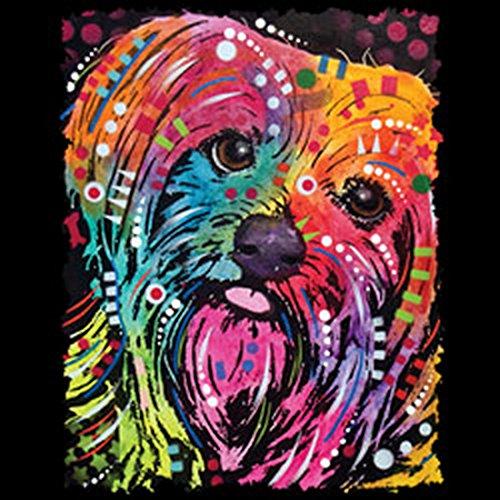 Damen Tanktop Neon Yorkshire Terrier Shirt 4 Girls Beach Tank Top Lady Geburtstag Geschenk geil bedruckt Schwarz