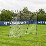 FORZA 2,4m x 1,8m Steel42 But de Foot - la Cage de Foot en Acier la Plus Solide et Portable, Filet de But Inclus [Mur de Tir et Ballon optionnel] (2,4m x 1,8m Steel42)