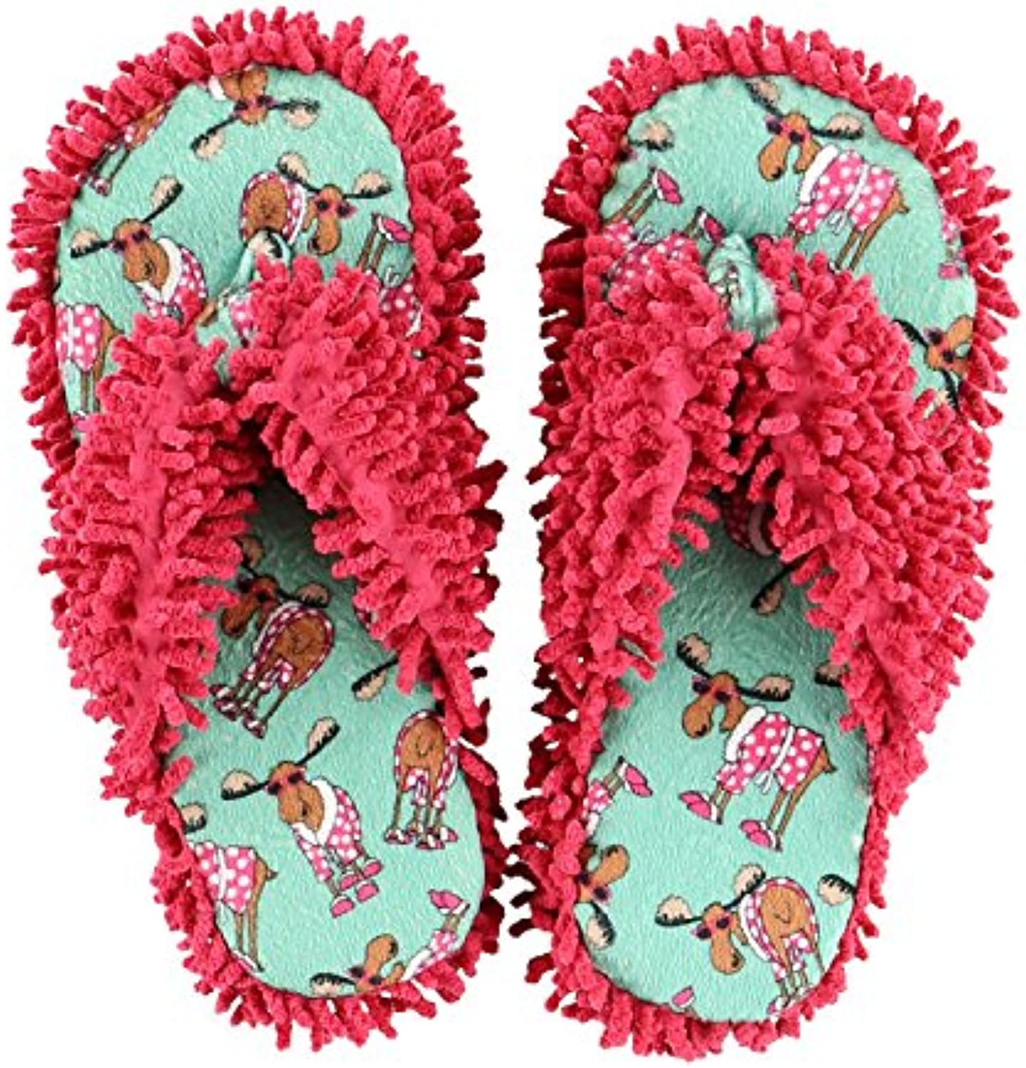 LazyOne Don't Do Mornings Moose Spa Slippers Adult S/M S/M -