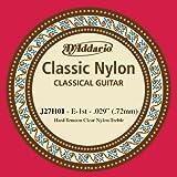 D\'Addario Corde d\'étude seule en nylon pour guitare classique D\'Addario J27H01, Hard, première corde