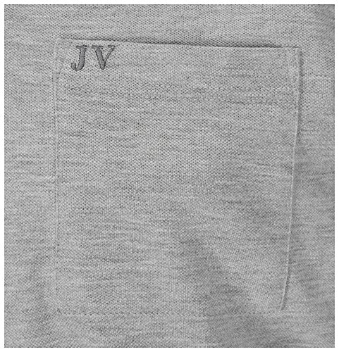 JAN VANDERSTORM Herren Poloshirt AGNE in Übergröße | Große Größen | Plus Size | Big Size | XL - 7XL Grau