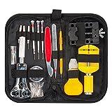 Uhrenwerkzeug Set, BAKTOONS 145tlg Uhrmacherwerkzeug Uhr Werkzeug Tasche Reparatur Set Uhrwerkzeug Gehäuse Öffner watch tool