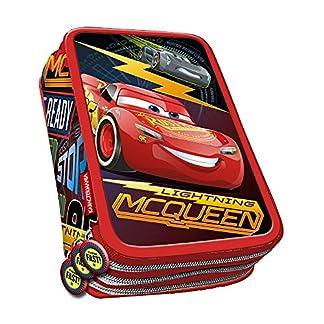 Cars- 3 Estuche portatodo plumier, Color Rojo, 21 cm (Karactermanía 32496)