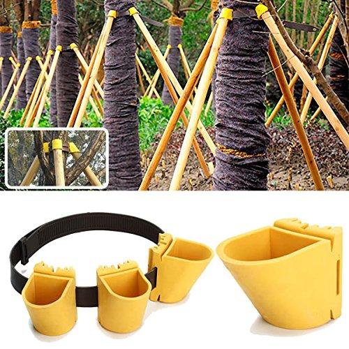 DaDago Gartenarbeit TPR Fruchtbaum-Fixierung Support Tool Windbreak Protection Binding Holder Kit - 60Mm