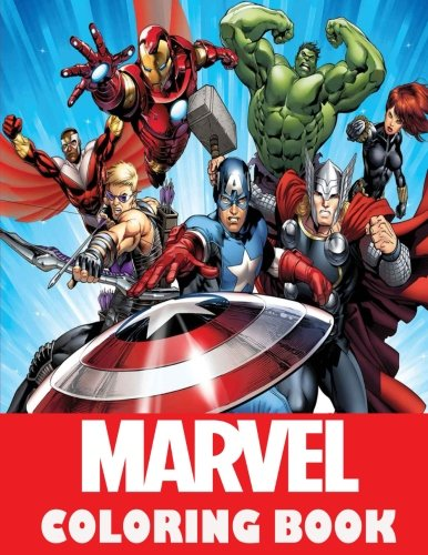 Marvel coloring Book: Super Heroes, Avangers, Spider-Man, Hulk, Thor, Ant Man, Doctor Strange, Wolverine, Deadpool, Captain America, Guardians of the ... coloring pages for boys and girls,ages 5-12 por Mr Des