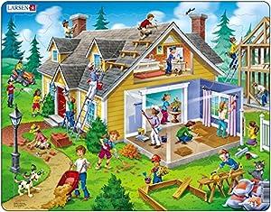 Larsen Maxi LA-US18 Puzzle - Rompecabezas (Rompecabezas de Figuras, Dibujos, Niños, Niño/niña, 3 año(s), Interior)