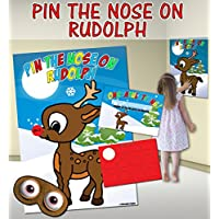 Pin the Nose on Rudolph (Pin the tail on the donkey style game)