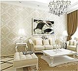 Yosot 3D-Damaskus Nicht-Tapeten Luxus Gewebte Europäischen Wohnzimmer Schlafzimmer Tapete Hintergrundbild Gelb