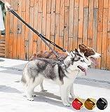 DOGNESS Multi-Funktional Reflektierende Hundeleine Führleine für 2 Hunde, weiche Neopren-Polsterung, Patentierte Metallplattierung Karabinerhaken, verstellbar Doppelleine für kleine mittlere große Hunde