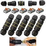 CESFONJER kabelverbinder, waterdicht IP68, verbindingsdoos, verbindingsmof, kabelverbinder met 3-polig, voor Ø5-10 mm kabeldi