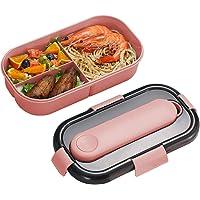 ZoneYan Boîte à Lunch 3 Compartiments et Couverts, Boîte à Bento Étanches, Boîte Bento avec Couverts, Contenants…