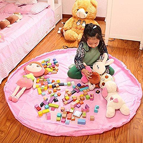 Spielzeug Aufbewahrungstasche, große Kinder Spielmatte Faltbare baby Spielzeug Organizer Kordelzug 150 CM (60 Zoll)