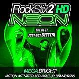 ROCKSTIX2 HD VERT NÉON LED ULTRA-LUMINEUX-PaIRE DE BAGUETTES ...