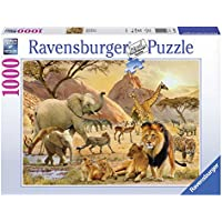 Ravensburger 19422 - Puzzle 1000 Pezzi, Riserva Africana, Cartone