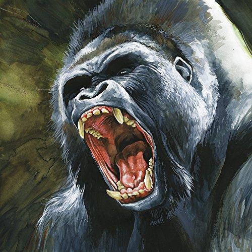 Apple iPhone 4 Housse Étui Silicone Coque Protection Gorille Singe Jungle Étui en cuir marron