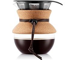 Bodum 11592-109 härva kaffebryggare med permanentfilter 0,5 L, flera lager, transparent, 13,8 x 11,5 x 15,4 cm