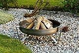 Feuerschale 63cm Feuerstelle Terrassenfeuer Feuer Stahl VOMA