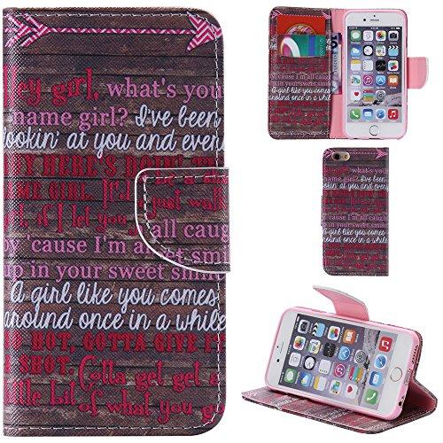 Ooboom® iPhone 5SE Coque PU Cuir Flip Housse Étui Cover Case Wallet Portefeuille Fonction Support avec Porte-cartes pour iPhone 5SE - Bouilloire Hey Girl