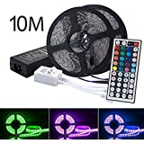 LED Strip Lights Kit, OXOQO Led Tape Light SMD 5050 RGB 600 LEDs Flexible Rope Lights IP65 Water-Resistant Color Changing LED Strips DIY Decoration (10 M)
