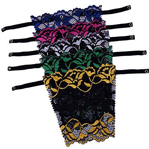 b8ab37c8784bd Hey~Yo 5pcs Lady Women Lace Clip-on Mock Camisole Bra Insert Overlay Modesty