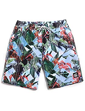 HAIYOUVK Four-Faced Beach Shorts Male Quick-Drying Loose Large Size Holiday Shorts Male Boxer Shorts Swimsuit,...