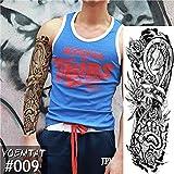 Autoadesivo del tatuaggio del braccio pieno di fiori Tatuaggio giapponese di trasferimento dell'acqua della pittura del corpo della carpa del loto