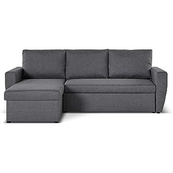 Bestmobilier - Astoria - Canapé d angle réversible Convertible 4 Places  avec Coffre Couleur - 27561f21dcaf