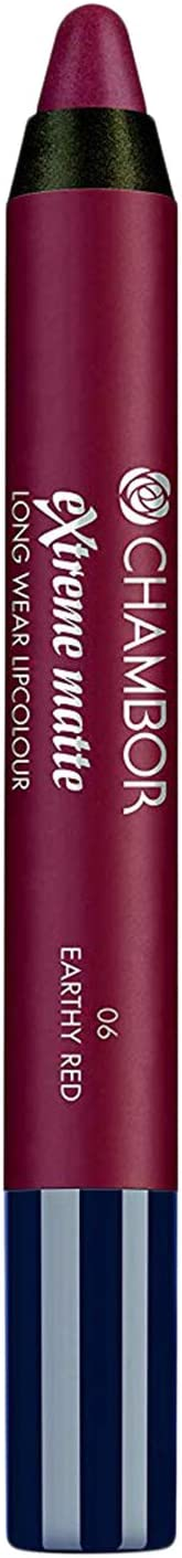 Chambor Extreme Matte Long Wear Lip Colour, Earthy Red No.06, 2 g