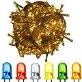 VOLTRONIC® 100 200 400 600 LED Lichterkette warm-weiss, kalt-weiss, bunt, innen und außen, Dekra GS Adapter