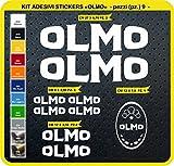 Adesivi Bici OLMO Kit adesivi stickers 09 Pezzi -SCEGLI SUBITO COLORE- bike cycle pegatina Cod.0798 (010 BIANCO)
