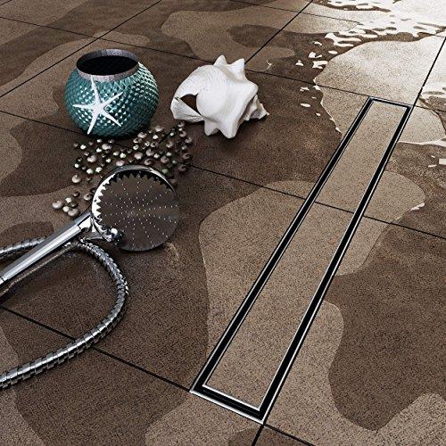Vilstein© con pavimento scarico della doccia e sifone doccia, piastrelle, can be 50cm
