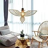 E27 Modern Einfaches Pendelleuchte Kreativ Vogel Pendellampe Gold Edelstahl Hängleuchte Rustikal Kunst Beleuchtung Wohnzimmer Schlafzimmer Esszimmer Treppen Gang Hängelampe L50* H30cm Kronleucht