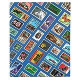 Goldbuch 51071 Briefmarkenalbum (23 x 30 cm, 16 Seiten mit Einsteckfächern) blau