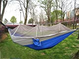 MONEYY Como redes de paracaídas hamacas outdoor camping anti-mosquito swing carpas acondicionadas con aire árbol dedicado 270*140cm.