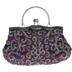Pulama Geheimnisvolle Stickerei Handtasche Handgemachte Abendtasche Griff Handtasche 7 Farben Violett
