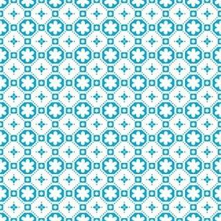 Rose des Vents Blue Self Adhesive Vinyl Floor Tile **Sample Only**