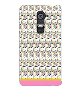 PrintDhaba Pattern D-1521 Back Case Cover for LG G2 (Multi-Coloured)