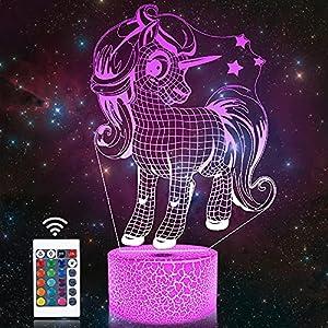 Unicornio 3D Lámpara de noche,Attivolife