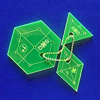 template for Patchwork Conjunto Hexagon, Diamond, triángulo 1inches
