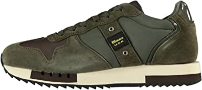 Blauer Scarpe Sneaker Running MOD. Queens in Suede/Tessuto Dark Brown Uomo U21BU01
