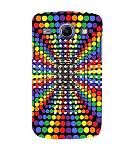 Colourful Dots Pattern 3D Hard Polycarbonate Designer Back Case Cover for Samsung Galaxy Core I8260 :: Samsung Galaxy Core I8262 Duos