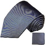 Blaues XL Krawatten Set 2tlg 100% Seidenkrawatte (extra lang 165cm) + Einstecktuch by Paul Malone
