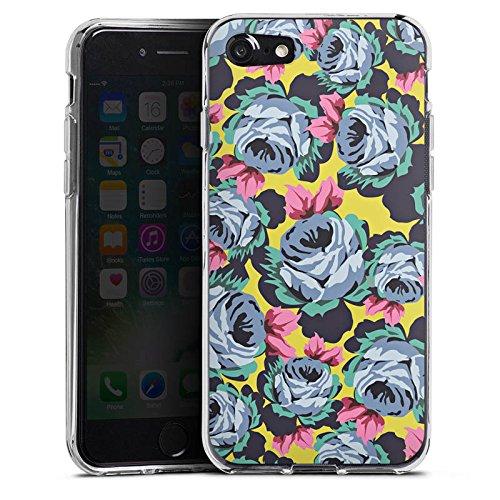 Apple iPhone X Silikon Hülle Case Schutzhülle Rosen Blumen Muster Silikon Case transparent