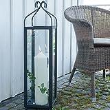 Varia Living Große hohe Laterne/Windlicht Lari aus Metall/Eisen für große Kerze - Höhe 80 cm -...