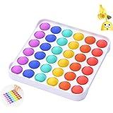 CAMFUN Giocattoli per Alleviare lansia Antistress,Bubble Sensory Fidget Toy, Colore Quadrato
