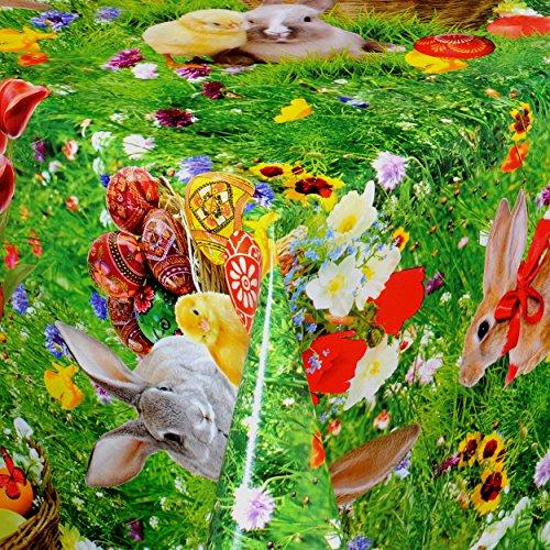 Tischdecke aus Wachstuch RUND, ECKIG und OVAL im modernem Oster Design, in verschiedenen Größen, NEU!!! (Oval 140x200cm)